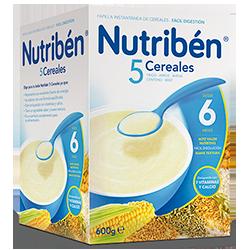 Papilla Nutribén 5 cereales 300 gr