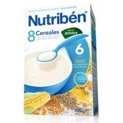 Papilla Nutribén 8 Cereales Efecto Bifidus (Digest) 600 gr