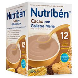 Papilla Nutribén Cacao Con Galletas María 500 gr