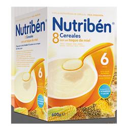 Papilla Nutribén 8 Cereales con un toque de Miel 600 gr