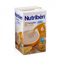 Papilla Nutribén 8 Cereales con un Toque de Miel y Calcio 600 gr