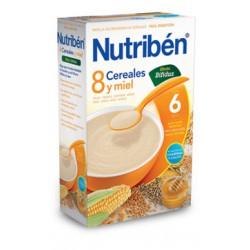 Papilla Nutribén 8 Cereales con un Toque de Miel Digest 600 gr