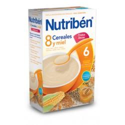 Papilla Nutribén 8 Cereales con un Toque de Miel y Frutos Secos 600 gr