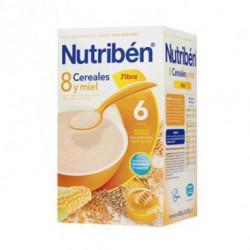 Papilla Nutribén 8 Cereales con un Toque de Miel y Fibra 600 gr