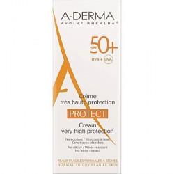 A-DERMA PROTECT CREMA SOLAR FACIAL SPF 50 + 40 ML