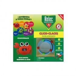 Relec antimosquitos pulseras click-clack + reloj