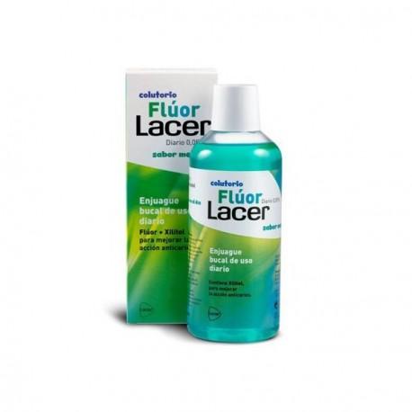 Flúor diario 0,05% lacer sabor menta 500 ml